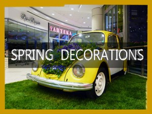 spring mall decorations