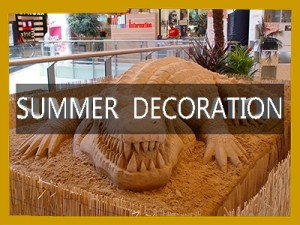 summer mall decorations